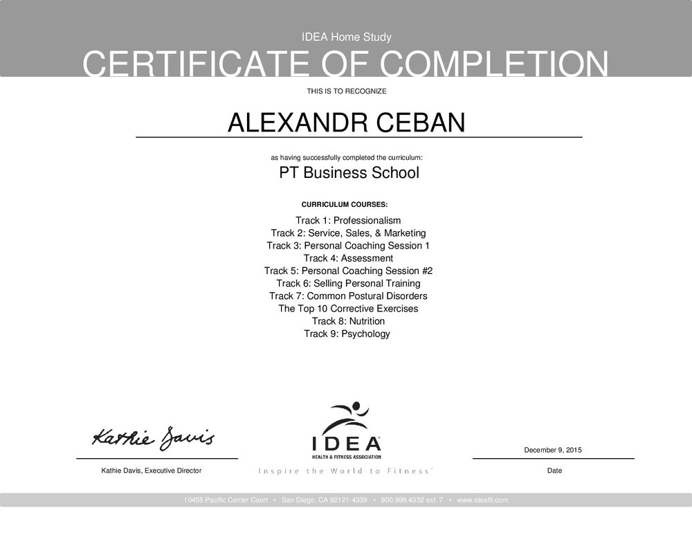 Certifications Bodyweight Personal Training Certifications