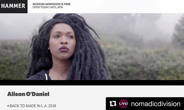 #Repost @nomadicdivision (@get_repost) ・・・ Congratulations to all Made in LA 2018 artists and a special shout out to LAND Exchange Value Artist Alison O'Daniel @the.holy.mountain.on.ice !! * * * * * #exchangevalue #nomadicdivision #alisonodaniel #thetubathieves