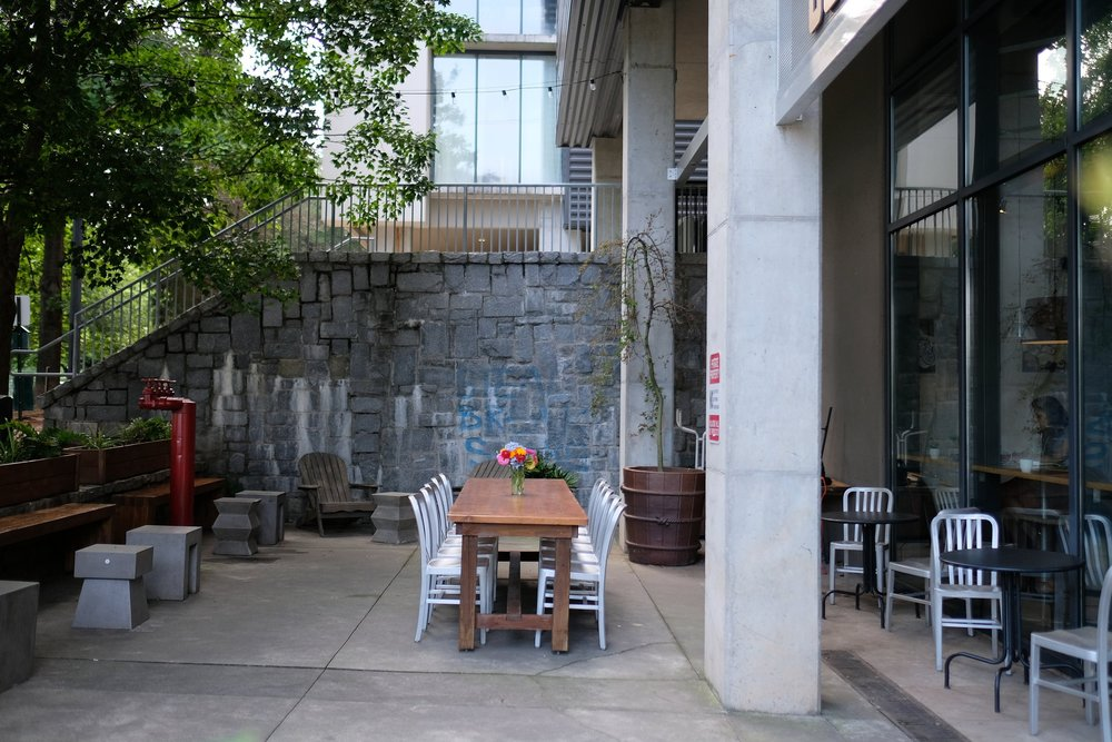 Patio facing Freedom Trail