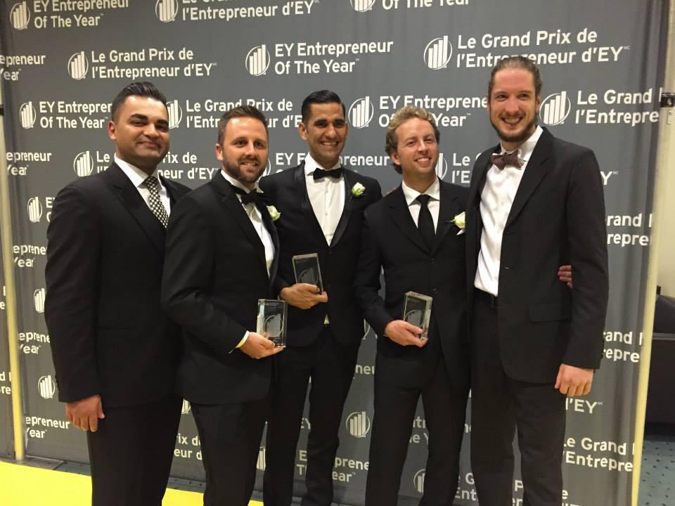 From left to right: Meraj Delavari, Eugene Winer, Alex Handa, Justin VanCamp, & Jay Hamilton