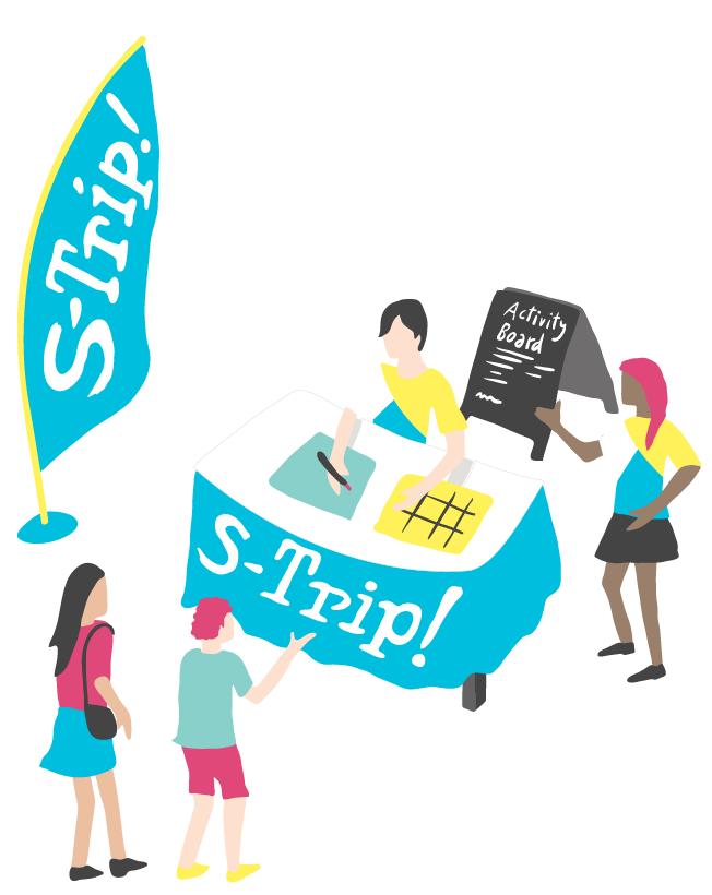 An Illustrator's interpretation of the S-Trip! Info Desk Experience