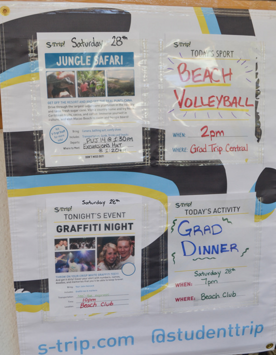 BEFORE: Many poster styles, inconsistent hand-written posters, only hold information for the current day