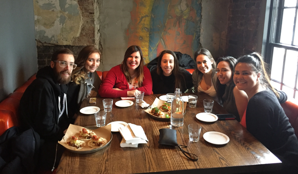 Monthly Intern Lunches with the Talent Team
