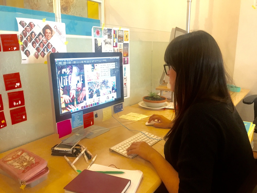 Zhenzhu hard at work - currently working on the Summer Academy yearbook for 2016!