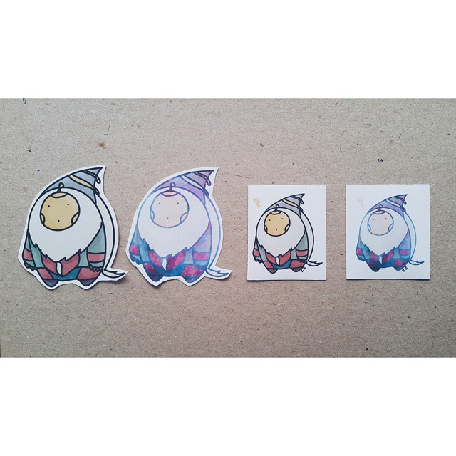 """Zhenzhu was bored one day, so she drew these cute little graphics of """"Derpy Bard"""" and made them into stickers!"""