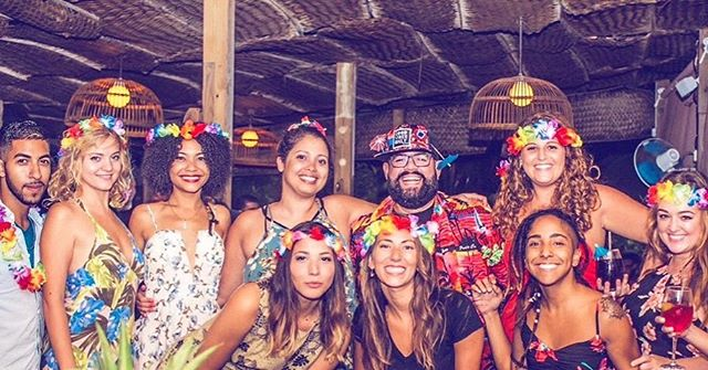 Here's our awesome Help Desk in Punta Cana celebrating Post Trip Season Hawaiian style. Thanks for all your hard work!