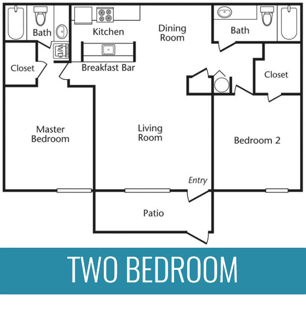 2 Bedrooms | 2 Bathrooms | 1,041 Square Feet | From $829 per month