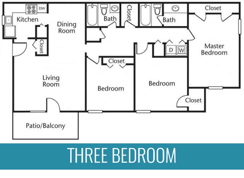 3 BR | 2 BA | 1,350 Square Feet | From $1025 per month
