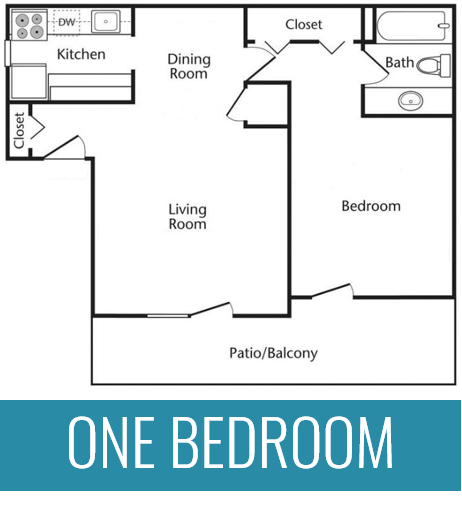 1 BR | 1 BA | 950 Square Feet | From $734 per month