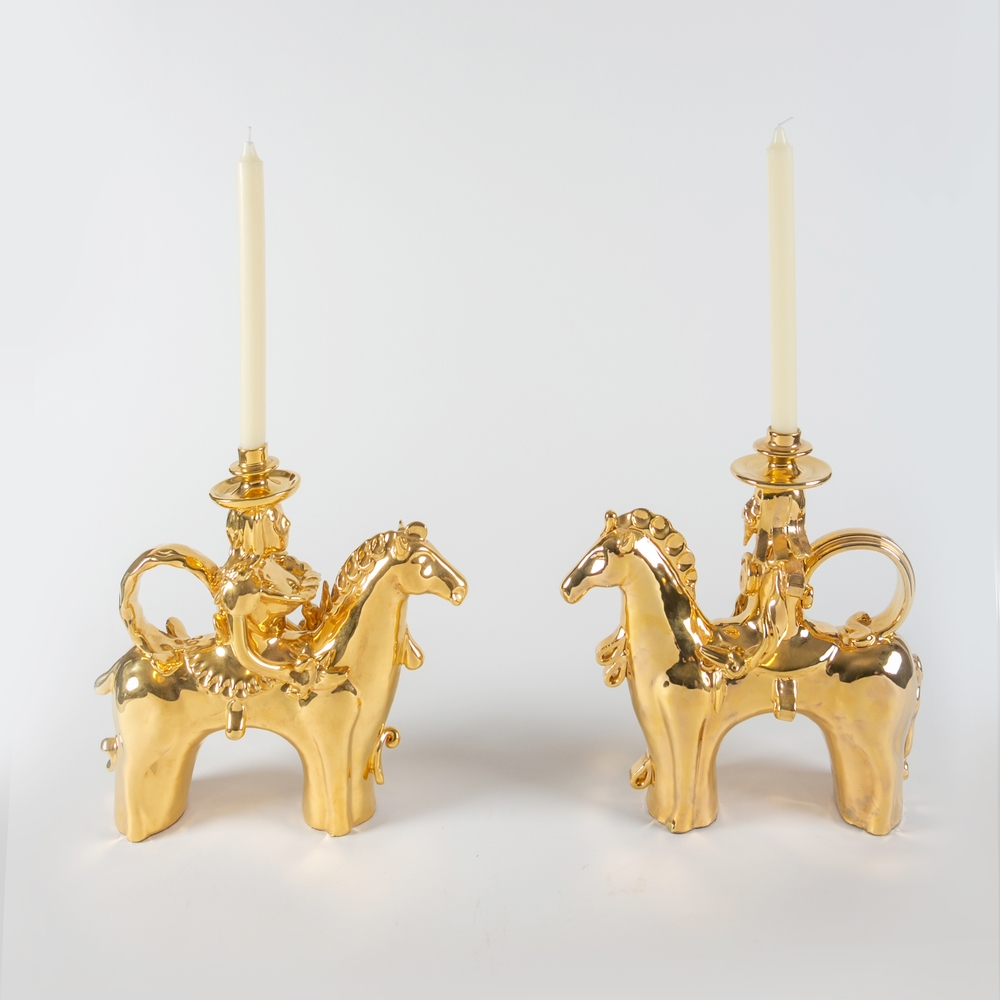 GdS - Enza Fasano Traditional Pupa Horseman Candlesticks.jpg