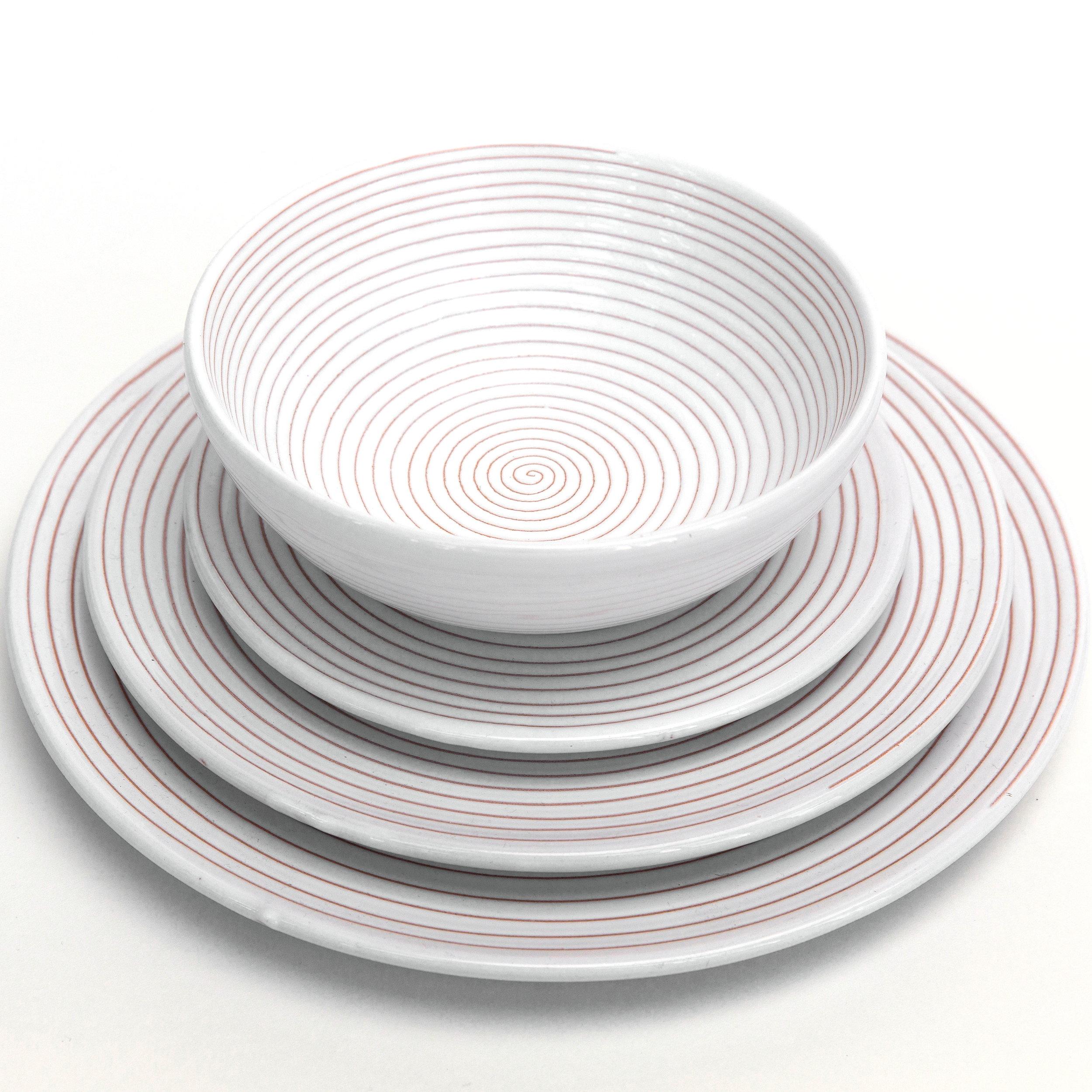 Graffito Swirl Dinnerware (Custom Order)  sc 1 st  Giardini Di Sole & Graffito Swirl Dinnerware (Custom Order) \u2014 Giardini Di Sole