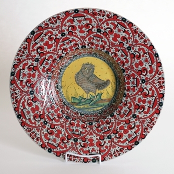 Turkish hat plate 40cm with owl center.jpg