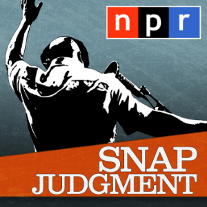 Story Telling with a beat. Snap Judgment is a weekly storytelling radio series and podcast, distributed by the Public Radio Exchange and NPR, and hosted by Glynn Washington. Each episode is made up of narrative nonfiction pieces on a common theme