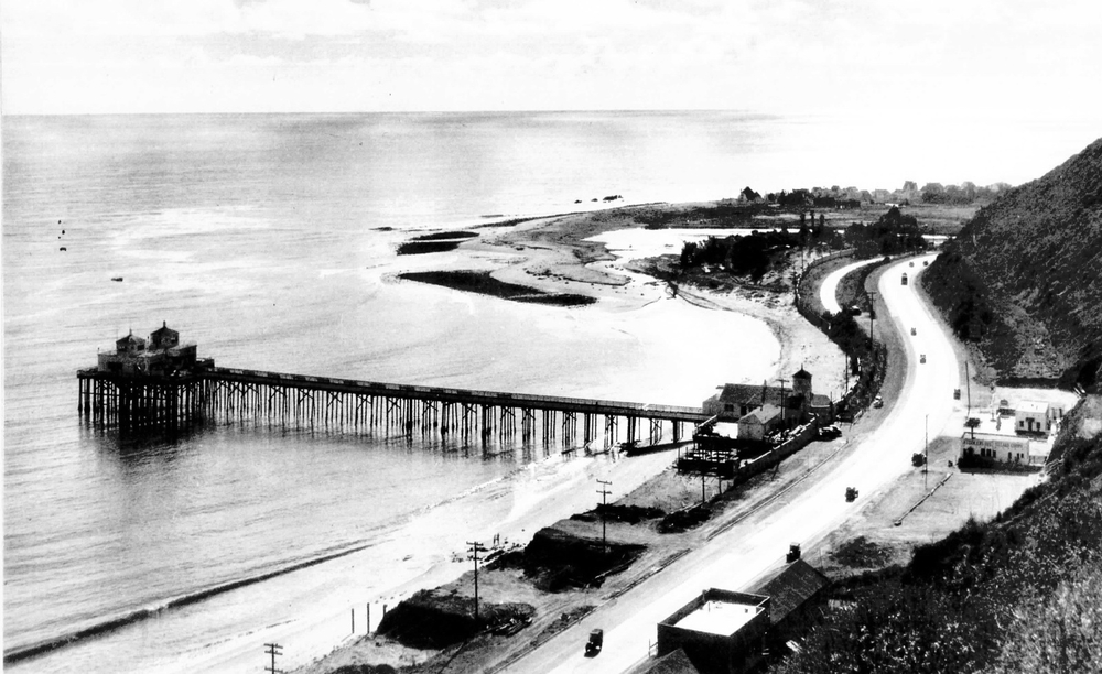 View of the pier circa 1945