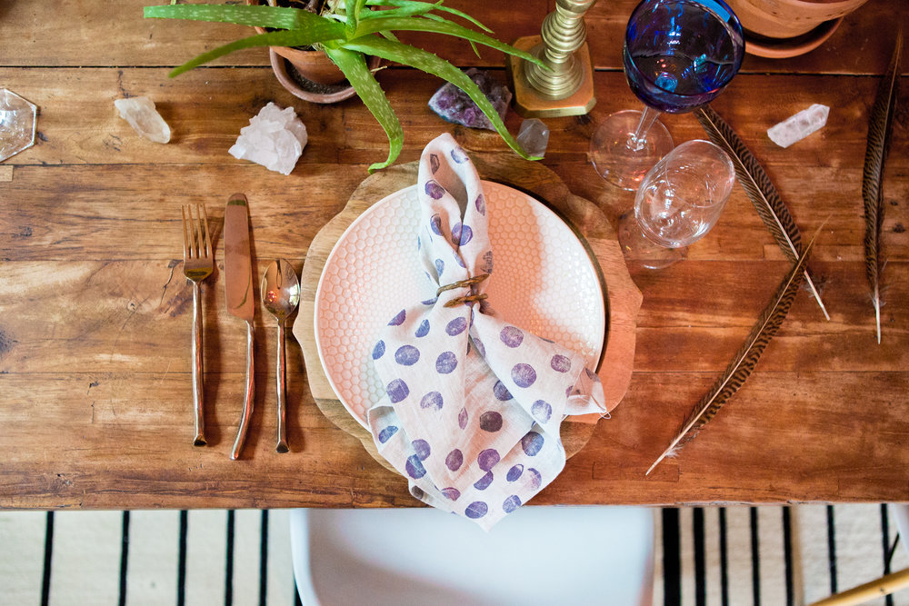 entertaining   Warm colors, lovely linens and beautiful patterns are the high notes to a well set table. collect a variety and mix and match our colors and patterns for a festive, bohemian look that your guests will love. Explore our offerings and be sure to check out the new EUro sized linen dinner napkins as well as our sweet new embroidered cocktail napkins that make the perfect gift.
