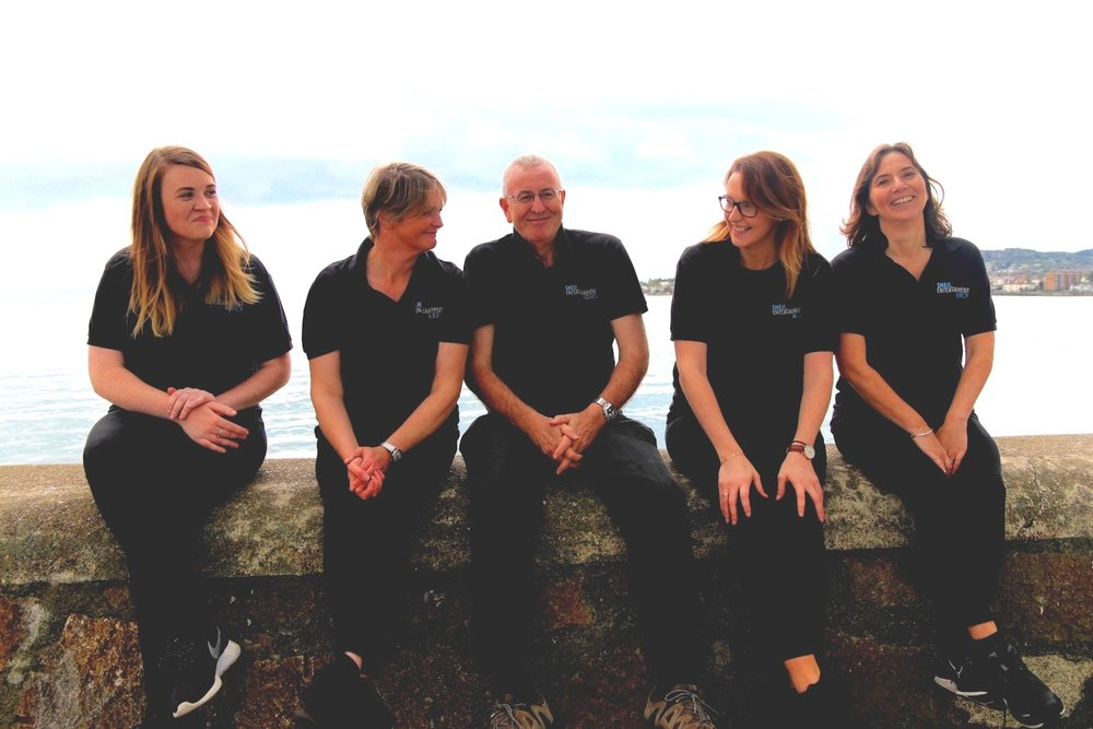 From L to R: Niamh Mitchell, Susie Sheil, Allan O'Neill, Laura Breheny, Michele Willis.