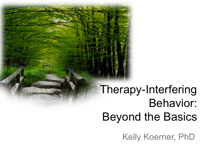 Therapy Interfering Behavior