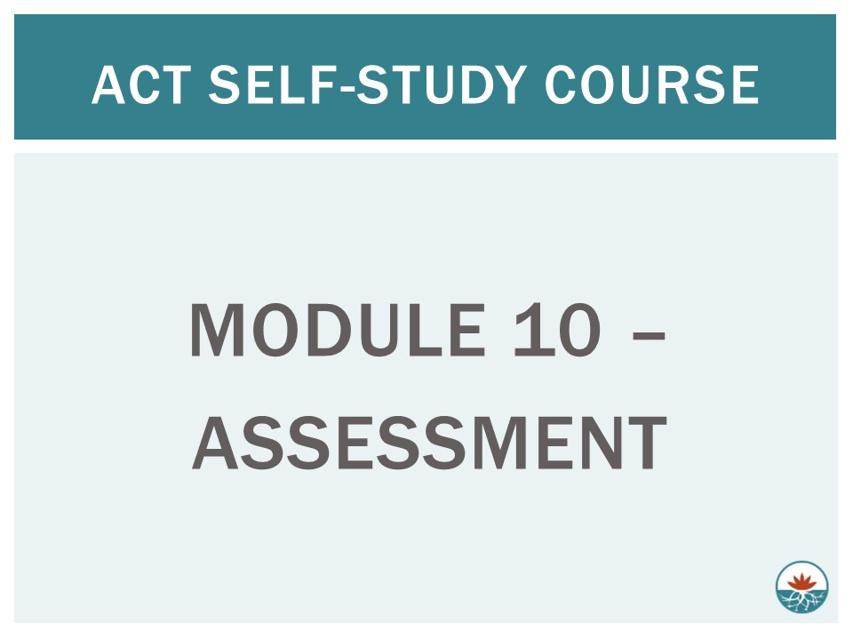 ACT Module 10 - Assessment