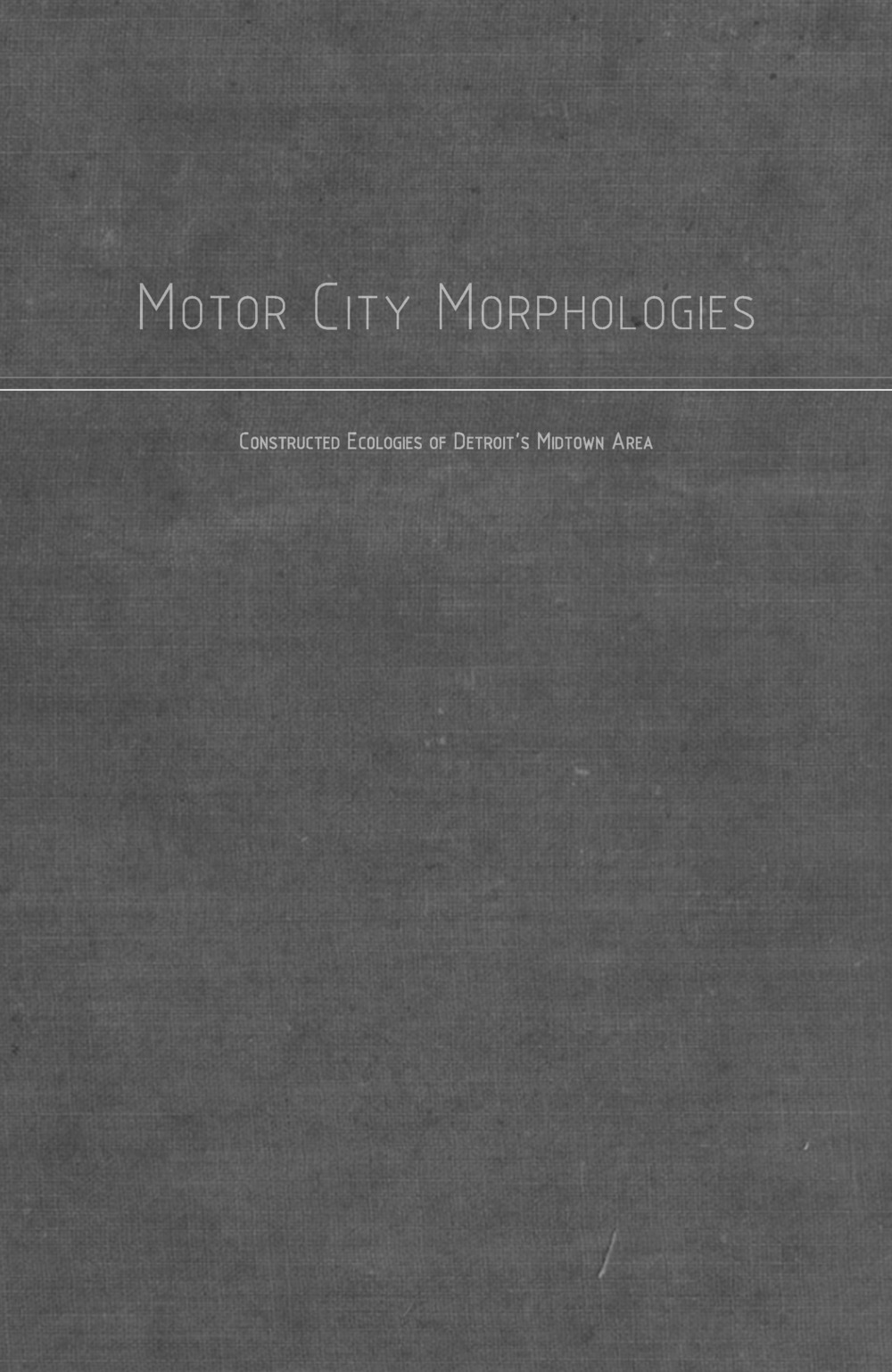 Motor City Morphologies: Constructed Ecologies of Detroit's Midtown Area