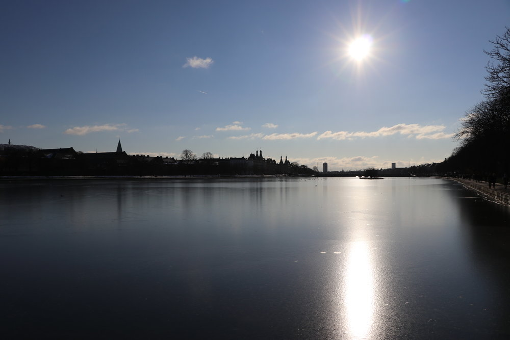 ©Erica Cirino. Sortedams Sø, one of the three lakes that run through the heart of Copenhagen.