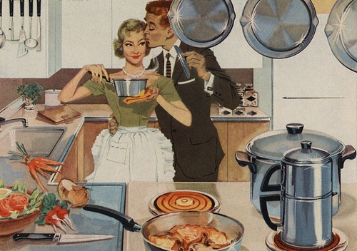 "One of many 1950s references for ""the perfect mother, wife, and home."" Yick."
