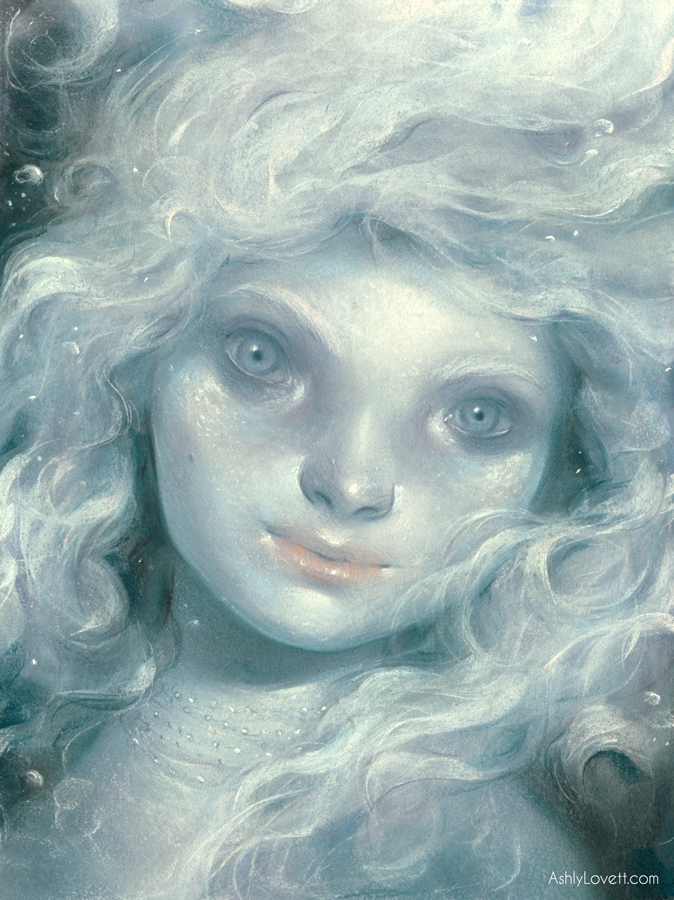 Muirgen. Chalk pastel on paper.