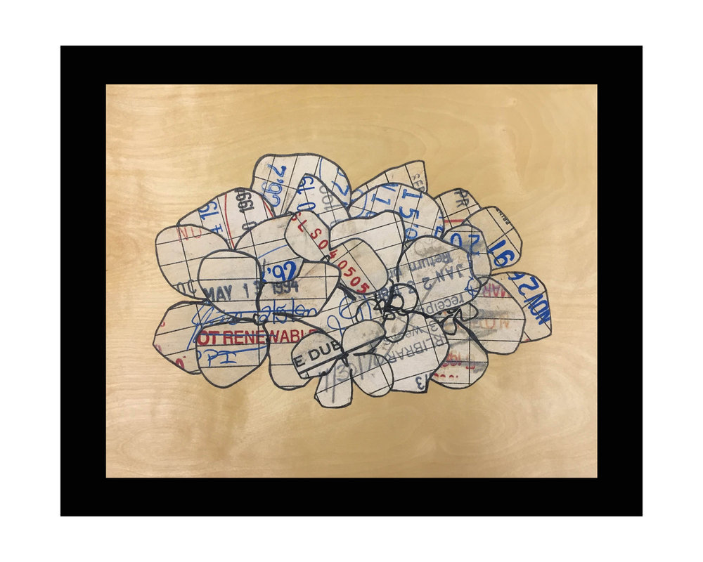 "ELECTION YEAR ink, birch veneer (4 color screen print) 16"" x 20"""