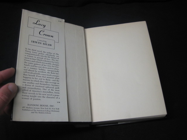 Lucy Crown By Irwin Shaw Southampton Books