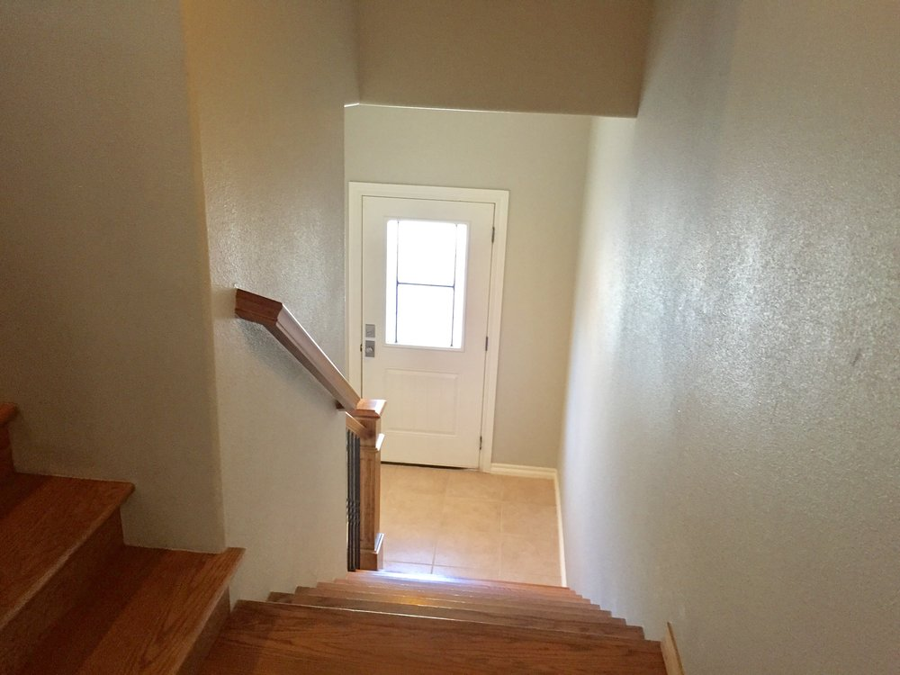 Stair landing toward front door