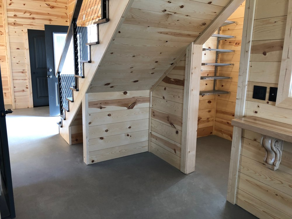 under stair storage and pantry