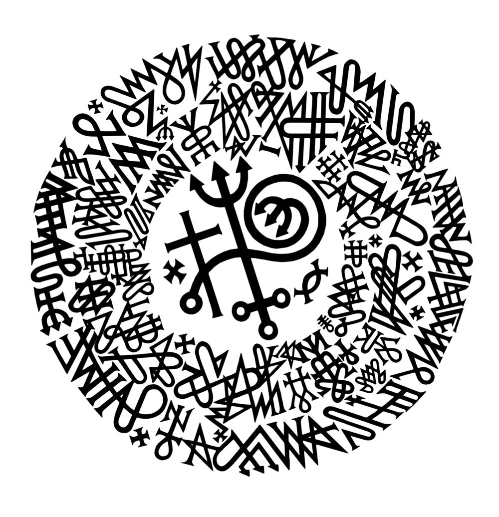 Pomba-gira Maria Mulambo - Grande Circulo de Pontis Riscado (Whirling Dove Maria Mulambo - Great Circle of Scratched Points)