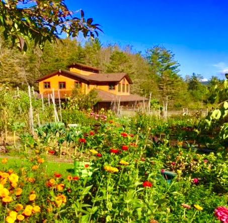 Catskills spa, organic garden