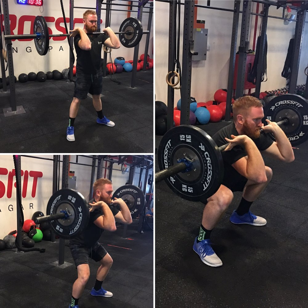 2. Front squats work several major muscle groups whilst enhancing your core strength and improving flexibility. Muscle building and strengthening the lower body is the key benefit of a barbell front squat. -