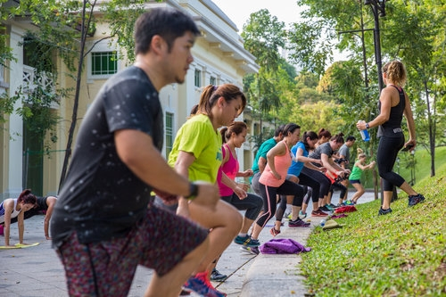 FIT MAX  Catering to all levels and offers a full body, dynamic workout. Learn explosive and fast-paced power and bodyweight movements.  Botanic Gardens ,  Fort Canning ,  East Coast Park  and  Tanjong Beach Club