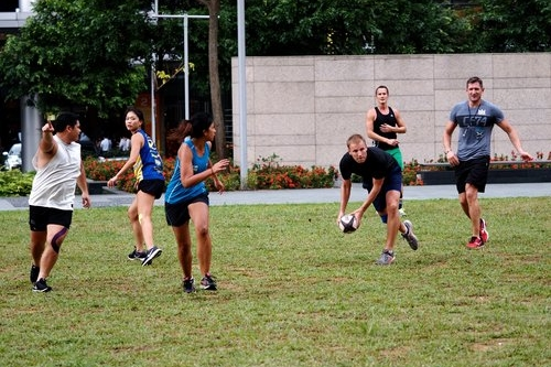 RUGBY CONDITIONING  Have fun, get fit and learn how 'ball hand' and small sided touch games can improve your fitness and skills to benefit your rugby game.  Marina Bay