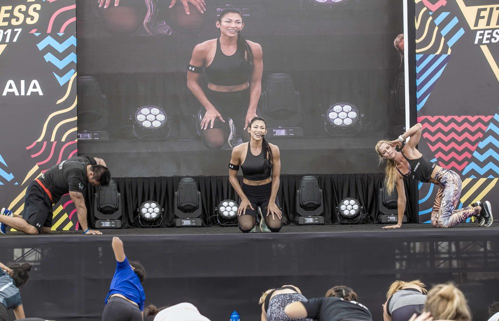 Fitness Fest mass workout for 1,000s