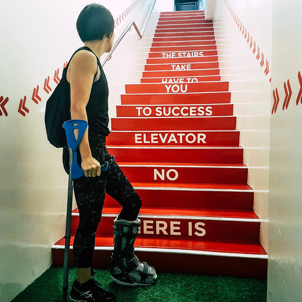 """There is no elevator to success."""