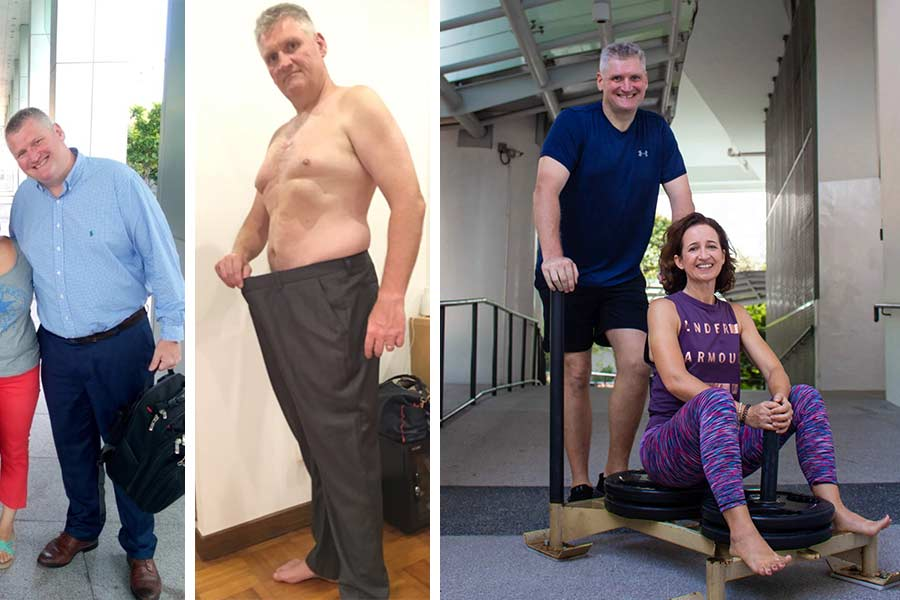 """- """"To be honest, I started the program at 136kg so significant weight loss was pretty quick but improvement to fitness took a bit longer. Our UfIt trainer, Tom, keeps driving us on by continually motivating us with realistic and measurable goals. This is a huge mental challenge too so doing this together with Sally is a great advantage and I wouldn't be able to do this without her.The biggest take-home for us from the nutrition side was that """"you can't out-train a bad diet"""". It's fundamental to improve your eating habits to support your training and the key to success lies in the planning - knowing what we are going to be eating everyday and making sure the ingredients are there. With regards to training, there was never any conflict. It has been such a great experience for us – we show up and train and then go for a coffee afterwards… like a date, which is really nice."""""""