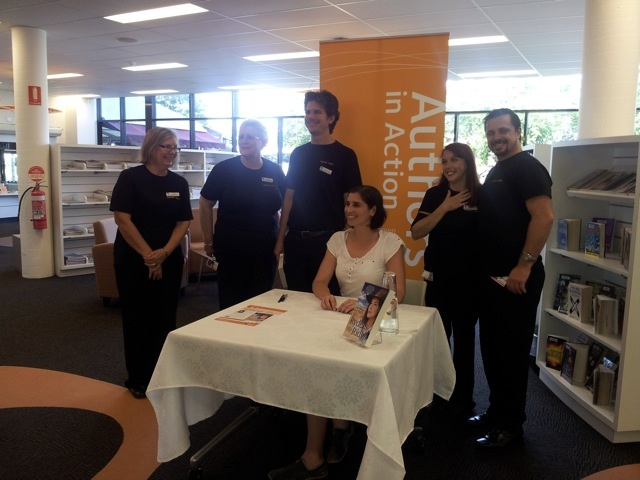 With the amazing staff from Victoria Point Library