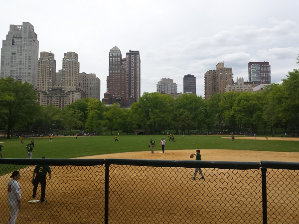 Manhattan, Central Park and baseball ... a quintessential NY moment