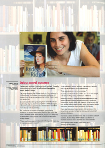 In  Rising Star  magazine on the release of   Ryders Ridge  , 2013