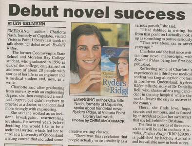 In the  Bayside Bulletin  on the release of   Ryders Ridge  , 2013