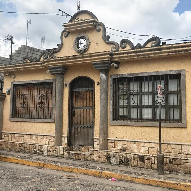 The most gorgeous pool hall facade ever...... really?! #copan #architecture #honduras #really