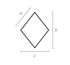 Rhombus flat tile.JPG