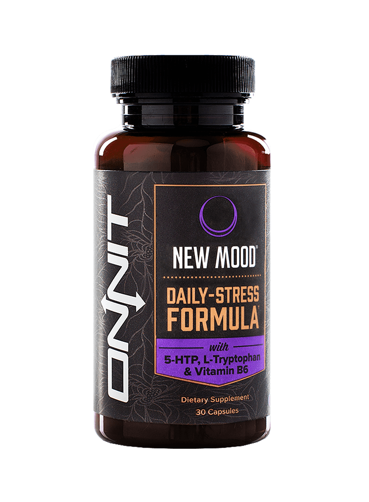 NEW MOOD  - Onnit's stress-relieving, mood enhancing formula gives you a mix of healing, relaxing herbs, as well as the building blocks for producing serotonin more effectively.  Helps with sleep and winding down from a long day or week in general.   30 Ct - $29