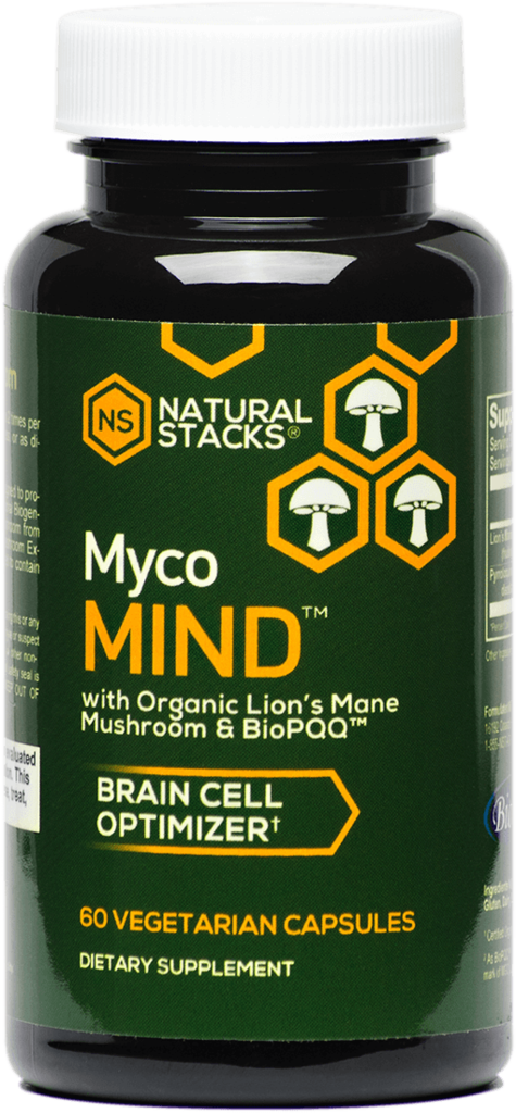MYCO MIND  - This natural formula combines Organic Lion's Mane mushroom extract with BioPQQ™ to support healthy brain cells.  Overall cognitive aid.    60 Ct - $39
