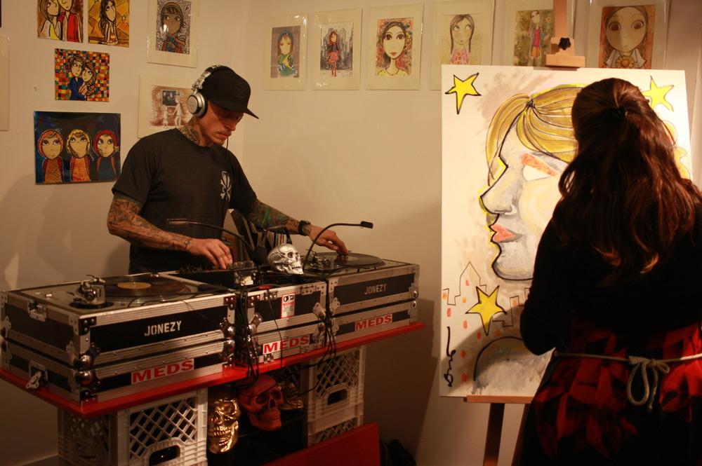 DJ + Live Art at Tribeca Art Factory