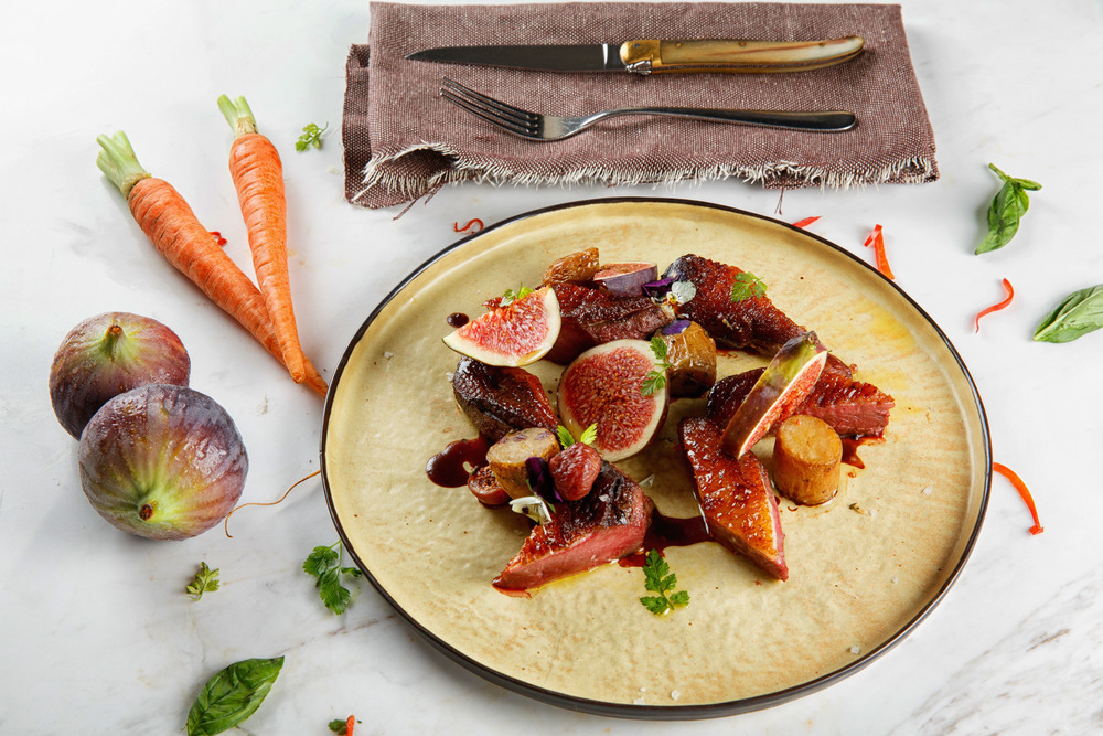 French Duck with Figs