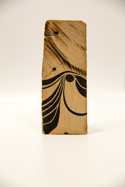Varying Dimensions  Ink on Wood Shard  2014