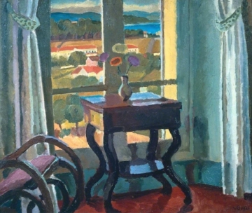 Vanessa Bell, Interior with Table, 1921